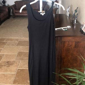 Basic black stretch maxi dress
